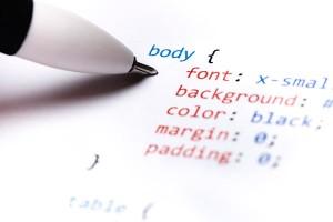 css-code-sample-printed