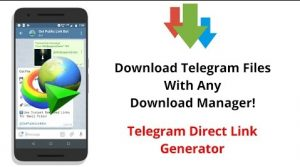 دانلود از تلگرام با idm